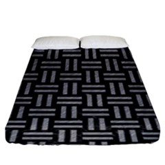 Woven1 Black Marble & Gray Colored Pencil Fitted Sheet (king Size) by trendistuff