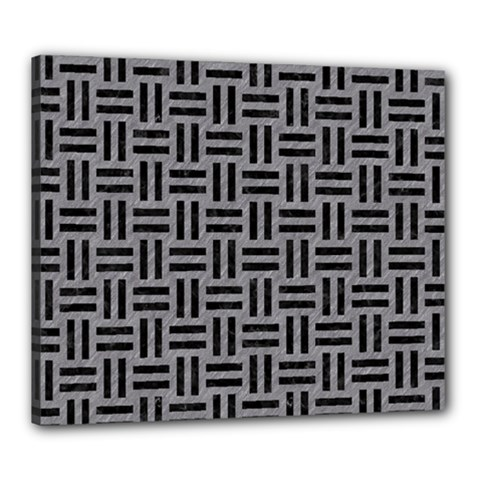 Woven1 Black Marble & Gray Colored Pencil (r) Canvas 24  X 20  by trendistuff