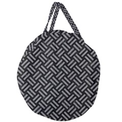 Woven2 Black Marble & Gray Colored Pencil Giant Round Zipper Tote by trendistuff