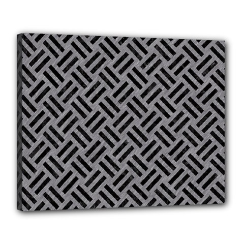 Woven2 Black Marble & Gray Colored Pencil (r) Canvas 20  X 16  by trendistuff