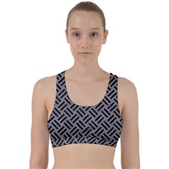 Woven2 Black Marble & Gray Colored Pencil (r) Back Weave Sports Bra