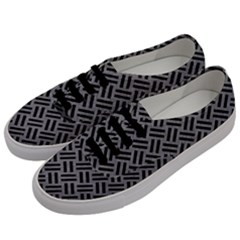 Woven2 Black Marble & Gray Colored Pencil (r) Men s Classic Low Top Sneakers by trendistuff