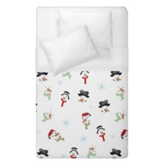 Snowman Pattern Duvet Cover (single Size) by Valentinaart
