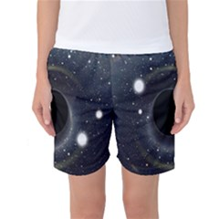 Brightest Cluster Galaxies And Supermassive Black Holes Women s Basketball Shorts by Mariart