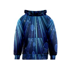 Blue Rays Light Stars Space Kids  Pullover Hoodie by Mariart