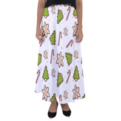 Ginger Cookies Christmas Pattern Flared Maxi Skirt by Valentinaart