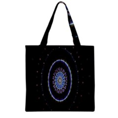 Colorful Hypnotic Circular Rings Space Grocery Tote Bag by Mariart
