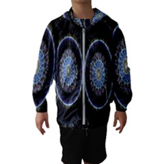 Colorful Hypnotic Circular Rings Space Hooded Wind Breaker (kids) by Mariart
