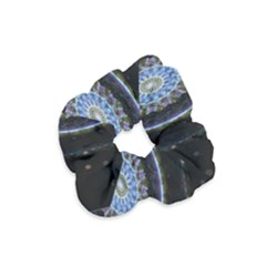 Colorful Hypnotic Circular Rings Space Velvet Scrunchie by Mariart