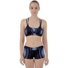 Colorful Hypnotic Circular Rings Space Women s Sports Set by Mariart