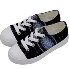 Colorful Hypnotic Circular Rings Space Kids  Low Top Canvas Sneakers by Mariart