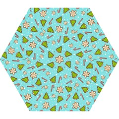 Ginger Cookies Christmas Pattern Mini Folding Umbrellas by Valentinaart