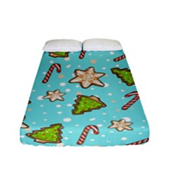 Ginger Cookies Christmas Pattern Fitted Sheet (full/ Double Size) by Valentinaart