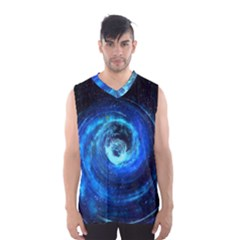 Blue Black Hole Galaxy Men s Basketball Tank Top