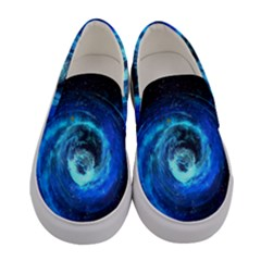Blue Black Hole Galaxy Women s Canvas Slip Ons