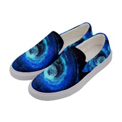 Blue Black Hole Galaxy Women s Canvas Slip Ons by Mariart