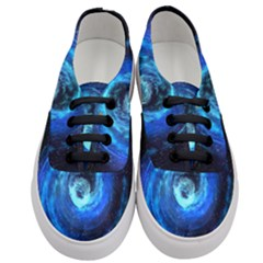 Blue Black Hole Galaxy Women s Classic Low Top Sneakers