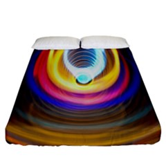 Colorful Glow Hole Space Rainbow Fitted Sheet (california King Size) by Mariart