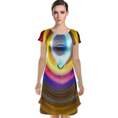 Colorful Glow Hole Space Rainbow Cap Sleeve Nightdress by Mariart