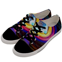 Colorful Glow Hole Space Rainbow Men s Low Top Canvas Sneakers by Mariart