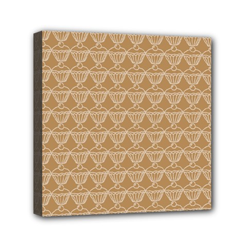 Cake Brown Sweet Mini Canvas 6  X 6  by Mariart