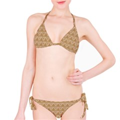Cake Brown Sweet Bikini Set
