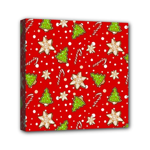 Ginger Cookies Christmas Pattern Mini Canvas 6  X 6  by Valentinaart