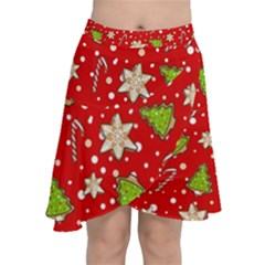 Ginger Cookies Christmas Pattern Chiffon Wrap