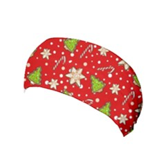 Ginger Cookies Christmas Pattern Yoga Headband by Valentinaart
