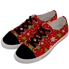 Ginger Cookies Christmas Pattern Men s Low Top Canvas Sneakers by Valentinaart