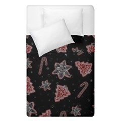 Ginger Cookies Christmas Pattern Duvet Cover Double Side (single Size) by Valentinaart