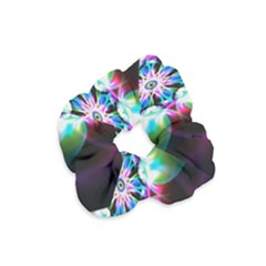 Colorful Fractal Flower Star Green Purple Velvet Scrunchie by Mariart
