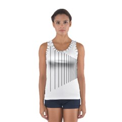 Fence Line Black Sport Tank Top  by Mariart