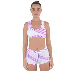 Electricty Power Pole Blue Pink Racerback Boyleg Bikini Set by Mariart