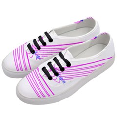 Electricty Power Pole Blue Pink Women s Classic Low Top Sneakers by Mariart