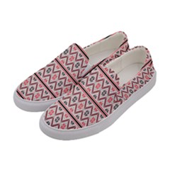 Clipart Embroidery Star Red Line Black Women s Canvas Slip Ons by Mariart