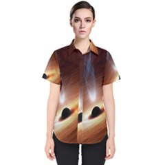 Coming Supermassive Black Hole Century Women s Short Sleeve Shirt