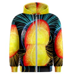 Cross Section Earth Field Lines Geomagnetic Hot Men s Zipper Hoodie by Mariart