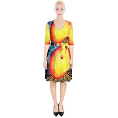 Cross Section Earth Field Lines Geomagnetic Hot Wrap Up Cocktail Dress