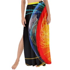 Cross Section Earth Field Lines Geomagnetic Hot Maxi Chiffon Tie Up Sarong