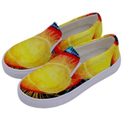 Cross Section Earth Field Lines Geomagnetic Hot Kids  Canvas Slip Ons by Mariart