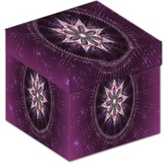Flower Twirl Star Space Purple Storage Stool 12   by Mariart