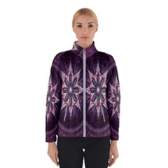 Flower Twirl Star Space Purple Winterwear by Mariart