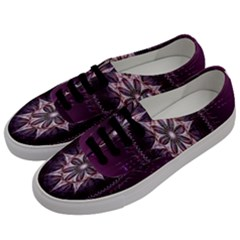 Flower Twirl Star Space Purple Men s Classic Low Top Sneakers by Mariart