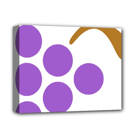 Fruit Grape Purple Deluxe Canvas 14  X 11  by Mariart
