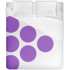 Fruit Grape Purple Duvet Cover (california King Size) by Mariart