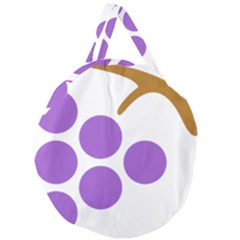 Fruit Grape Purple Giant Round Zipper Tote by Mariart