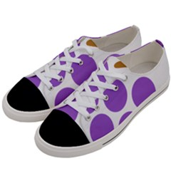 Fruit Grape Purple Women s Low Top Canvas Sneakers by Mariart