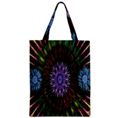 Flower Stigma Colorful Rainbow Animation Gold Space Zipper Classic Tote Bag by Mariart