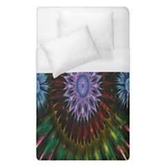 Flower Stigma Colorful Rainbow Animation Gold Space Duvet Cover (single Size) by Mariart